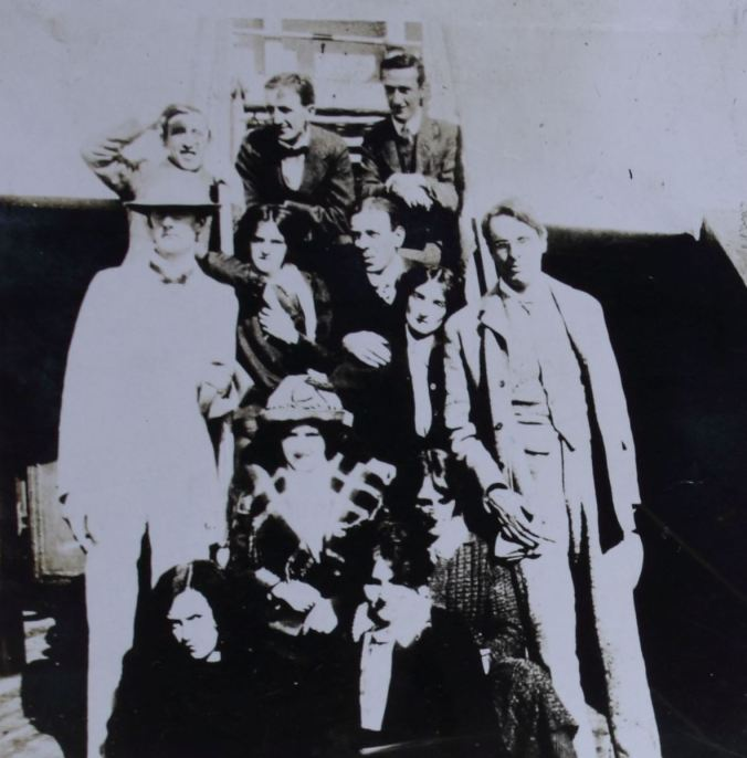 Abbey Theatre American tour participants including Lennox Robinson (l) and W.B.Yeats (r).